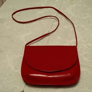 Imagnin red leather purse